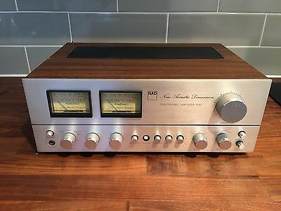 NAD 3030 Stereophonic Amplifier vintage Hi-Fi separate Integrated Wood Case