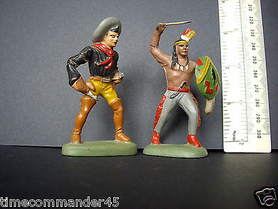 1930s Leyla Germany Cowboy & American Indian. Old Stock but Damaged/Repairable.