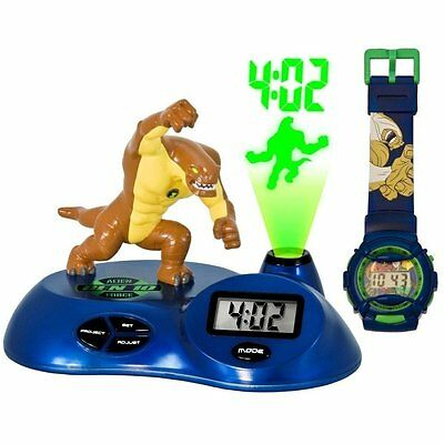 Children's Ben 10 Alien Force Projection Clock with LCD Watch
