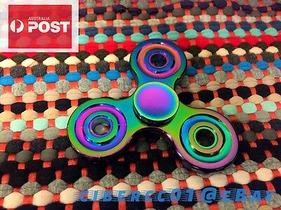 Hand Finger Spinner Fidget Toy Rainbow Cyclone