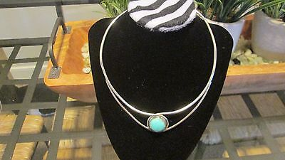 Sterling Silver and Turquoise Jay King cuff necklace