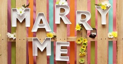 MARRY ME Ceramic Letter Dishes For Wedding Proposal/Engagement Parties