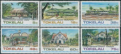 Tokelau 1985 SG124-129 Architecture part 1 set MNH
