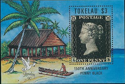 Tokelau 1990 SG182a $3 London Stampworld MS MNH