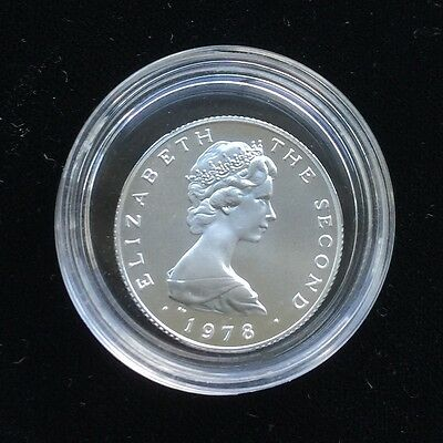 1978 BU Isle Of Man Sterling Silver £1 Coin