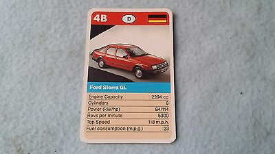 Ford Sierra Original Top Trump Card Free Postage Collectible Rare