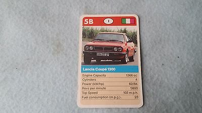 Lancia Beta Coupe Spider Original Top Trump Card Free Postage Collectible