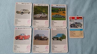 Job lot of Mercedes AMG etc Original Top Trump Cards Free Postage Collectible