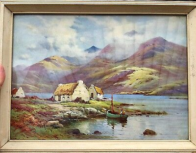 VINTAGE NORMILL IRISH WATER COLOUR PRINT COUNTY CONNAUGHT/ Connacht  A BREANSKI
