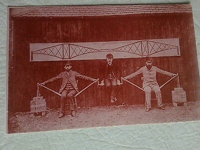 Postcard.    living model of the  Forth Bridge