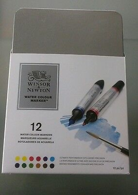 Winsor And Newton Water Colour Marker Pack Of 12