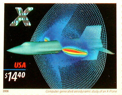 USA 2006 'X-Plane $14.40 Express Mail' Stamp with Hologram MNH