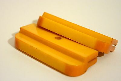 Vintage Lot of 2 Yellow Color Amber Bakelite Catalin Parts Blocks Pieces 71gr.