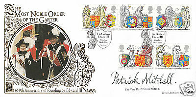 1998 Queen's Beasts - Benham SPG Gold Official - Signed by Revd PATRICK MITCHELL