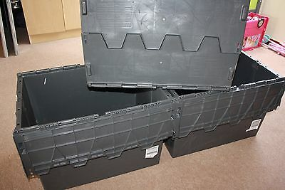 6x72L Large Strong Storage Crate Plastic Removal , Garage Box good condition