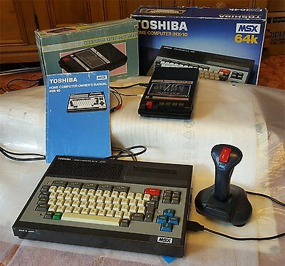 Boxed MSX Toshiba 64k + Boxed Tape Deck + Lots of Games, Joystick, Cables