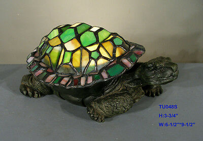 Tiffany Style Stained Glass Leadlight Sea Turtle Table Lamp Night Light New