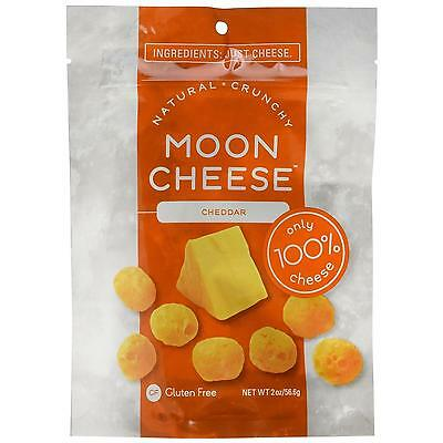 Moon Cheese Crunchy Cheddar Snack Gluten-Free 100% Natural Protein Calcium CHOP