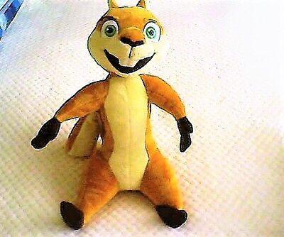 """Dreamworks Over The Hedge Squirrell Animal Plush Soft Toy Talking Figure 16"""""""