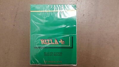 RIZLA Green King Size Rolling Papers Full Box 50 MA36  - FREE UK P&P