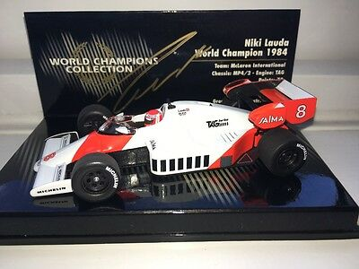 Niki Lauda McLaren MP4/2 World Champions Collection 1:43rd Scale Model SIGNED