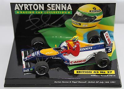 Nigel Mansell FW14 AS Collection British GP 1991 1:43rd Scale Model SIGNED