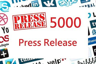 SEO create 5000 press release related to your website Backlinks Higher Rank