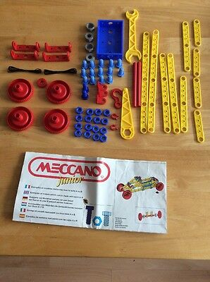 Vintage Meccano Junior Plastic Construction Set Awith Instructions For  A & B.