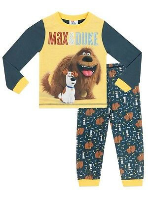 The Secret Life of Pets Character Pajama Set PJs Size 10 Max And Duke NEW