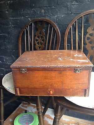 wooden old sewing box