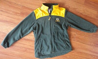 NFL Green Bay Packers Football Fleece Jacket Full Zip, Women's Size Small