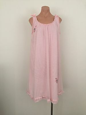 Nwot Vintage 1960's Osti Ladies Pink Nylon Nightie 16