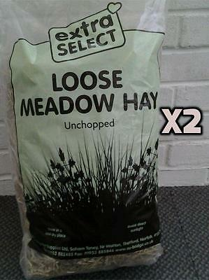 X2 Large Bags Of Unchopped Loose Meadow Hay Bedding Hampster Rabbit Guinea Pig