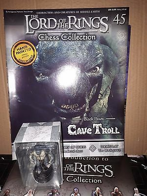 Eaglemoss Lord Of The Rings Chess Collection #45 Cave Troll Black Pawn Sealed