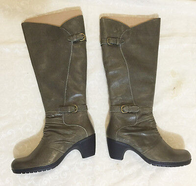 planet shoes women's leather knee high boots size 7 new