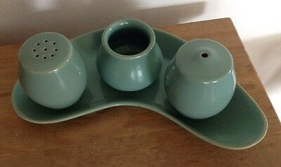 Denby Manor Green Cruet Set Vintage