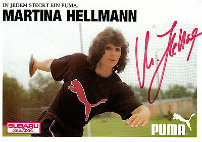 1167 MARTINA HELLMANN Leichtathletik 1991 DDR orig.sign. AK  OLYMPIA-/2x WM-GOLD