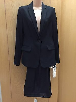 BNWT NEXT Black Ladies Tailored Trousers Suit Size 8 New