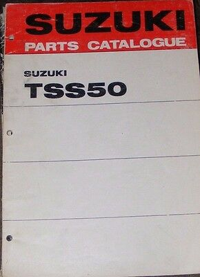 SUZUKI TSS50 GENUINE PARTS CATALOGUE  (1st EDITION  1971)