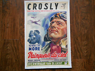 REACH FOR THE SKY 1956 Poster Linenbacked RAF KENNETH MORE DOUGLAS BADER Belgian