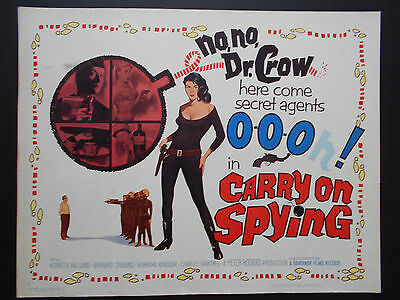 CARRY ON SPYING Movie Poster KENNETH WILLIAMS BARBARA WINDSOR CHARLES HAWTREY