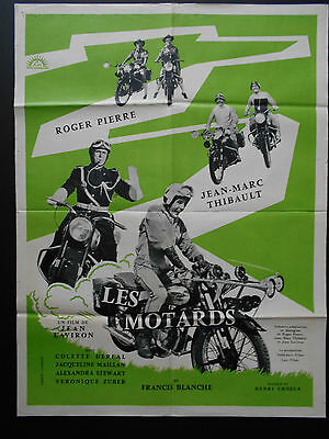 THE BIKERS (LES MOTARDS) 1959 French Movie Poster BSA BMW Motorbikes