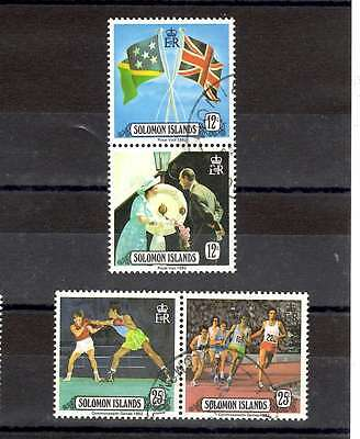 Solomon Isands 1982 Royal Visit & Commonweath Games pairs SG 471-474 used lot 2