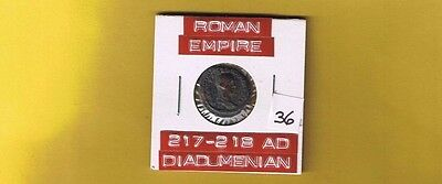 "Ancient Roman Empire coin of ""Diadumenian""  217-218 AD.. AE 17mm.."