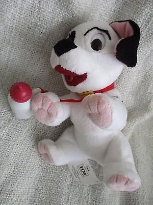 101 DALMATIANS - Patch plush soft toy dog with baby sucking sounds VGC Disney