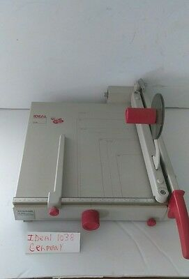 """Kutrimmer Ideal 1038 Guillotine Paper Cutter & Trimmer 15"""" Germany Good Cond"""