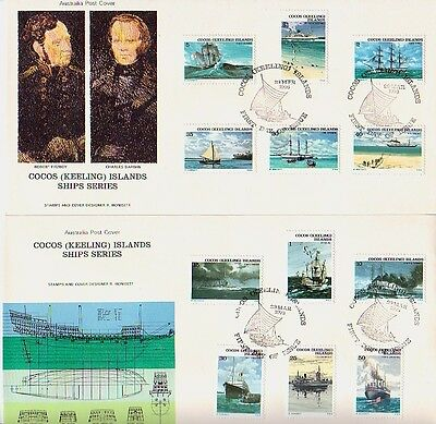 Cocos (Keeling) Is. - Ships Series (2no. AP FDC's) 1976