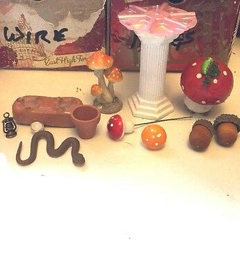 Dolls House Miniatures Mixed Lot For Your Garden
