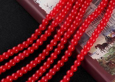 50pcs 8mm Crystal Glass Charms Loose Spacer Beads DIY Findings Red