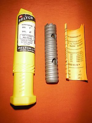 "Relton Rotary Rebar Cutter Bit 1"" x 4"" Carbide Tipped RB-16-HO"